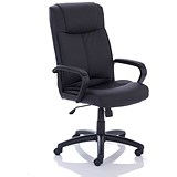Image of Precinct Executive Bonded Leather Chair / Arms / Black