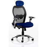 Image of Sanderson Executive Airmesh Chair - Blue