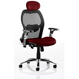 Image of Sanderson Executive Airmesh Chair - Red