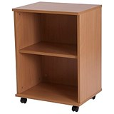 Image of Retro Low Bookcase - Beech