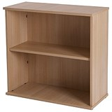 Image of Retro Desk-High Bookcase - Oak