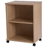 Image of Retro Low Bookcase - Oak