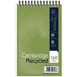 Cambridge Recycled Wirebound Notebook / 200x125mm / Ruled / 160 Pages / Pack of 10