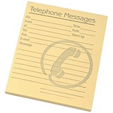 Image of Telephone Message Pad / 80 Sheets / 127x102mm / Yellow Paper / Pack of 10