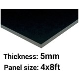 Image of Foamboard / 4ft x 8ft / Black / 5mm Thick / Box of 25
