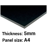 Image of Foamboard / A4 / Black / 5mm Thick / Box of 20