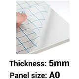 Image of Self-adhesive Foamboard / A0 / White / 5mm Thick / Box of 10