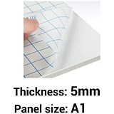 Self-adhesive Foamboard / A1 / White / 5mm Thick / Box of 10