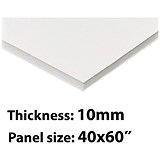 Image of Foamboard / 40'' x 60'' / White / 10mm Thick / Box of 13