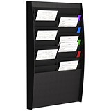 Image of Fast Paper Wall-Mounted Document Panel / 2 x 10 A4 Pockets / Black