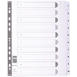 Image of Guildhall File Dividers / 1-10 / Mylar Tabs / A4 / White