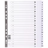 Image of Guildhall File Dividers / A-Z / Mylar Tabs / A4 / White