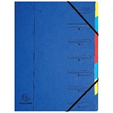Image of Europa A4 Elasticated Organiser Files / 7-Part / Blue