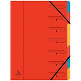 Image of Europa A4 Elasticated Organiser / 7-Part / Red