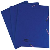 Image of Europa A4 Portfolio Folders / 3-Flap / Dark Blue / Pack of 10