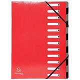 Exacompta Iderama File / 12-Part / A4 / Red