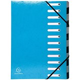 Exacompta Iderama File / 12-Part / A4 / Blue