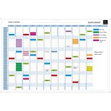 Exacompta Magnetic Drywipe Perpetual Year Planner / Mounted / 900x590mm