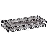 Image of Safco Wire Commercial Shelving Extra Shelves / Black / Pack of 2 / 914mm Wide