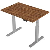 Image of Air Height Adjustable Desk / 1200mm / Silver Legs / Walnut