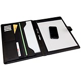 Monolith Conference Folder with A4 pad / 260x340mm / Leather-Look / Black