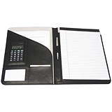 Monolith Executive Conference Folder with A4 Pad / 240x320mm / Leather-Look / Black