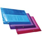 Image of Rapesco A4+ Zip Filing Bags / Assorted PVC & Seal / Pack of 25