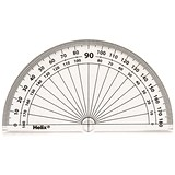 Image of Helix 10cm 180 Degree Protractor / Clear / Pack of 50