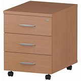 Image of Impulse 3-Drawer Mobile Pedestal - Beech