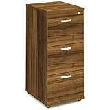 Image of Impulse 3-Drawer Filing Cabinet - Walnut