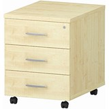 Image of Impulse 3-Drawer Mobile Pedestal - Maple