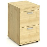 Image of Impulse 2-Drawer Filing Cabinet - Maple