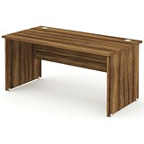 Impulse Panel End Desk / 1600mm Wide / Walnut / Installed
