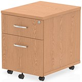 Image of Impulse 2-Drawer Mobile Pedestal - Oak