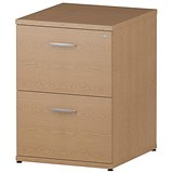 Image of Impulse 2-Drawer Filing Cabinet - Oak
