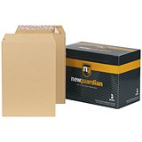 Image of New Guardian Heavyweight C4 Pocket Envelopes / Manilla / Peel & Seal / 130gsm / Pack of 250