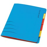 Image of Jalema A4 Secolor Files / 6-Part / Blue / Pack of 5