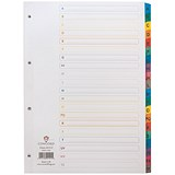 Concord Subject Dividers / A-Z / Multicoloured Tabs / A4 / White