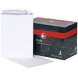Plus Fabric C4 Pocket Envelopes / White / Peel & Seal / 120gsm / Pack of 250