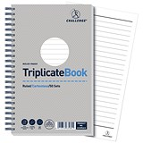 Image of Challenge Wirebound Carbonless Triplicate Book / Ruled / 50 Sets / 210x130mm / Pack of 5