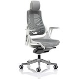 Image of Zure Elastomer Executive Chair / Headrest / Grey