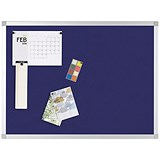 Image of Q-Connect Notice Board / 900x600mm / Aluminium Frame / Blue