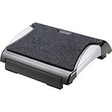 Image of Q-Connect Foot Rest with Carpet - Black/Silver
