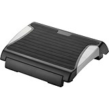 Image of Q-Connect Foot Rest with Rubber- Black/Silver