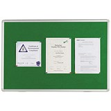 Image of Q-Connect Notice Board / 900x600mm / Aluminium Frame / Green