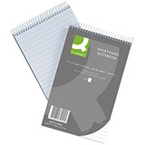 Image of Q-Connect Shorthand Notebook / 150 Leaf / Ruled Feint / 203 x 127mm / Pack of 10