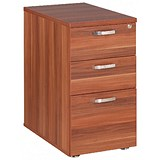 Image of Avior Desk High Pedestal / 800mm Deep / Cherry
