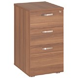 Image of Avior Desk High Pedestal / 600mm Deep / Cherry