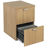 Image of Avior 2-Drawer Filing Cabinet - Ash