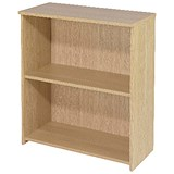 Image of Jemini Intro Desk High Bookcase / 800mm Wide / Oak